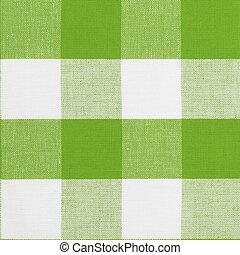 実質, ギンガムパターン, seamless, 伝統的である, 緑, モデリング, テーブルクロス, suitable, 3d