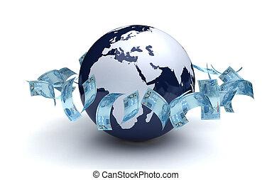 実質, グローバルなビジネス, ブラジル人