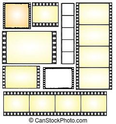 実質, フレーム, セット, グランジ, フィルム