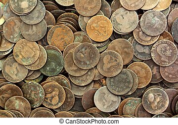 実質, ペセタ, 古い, セント, 通貨, 共和国, 1937, コイン, スペイン