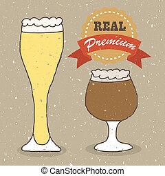 実質, ラガービール, エール