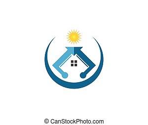 実質, ロゴ, ベクトル, 財産
