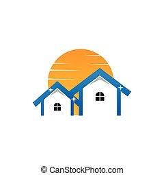 実質, ロゴ, 日当たりが良い, きれいにしなさい, 財産