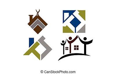 実質, 家, セット, 財産