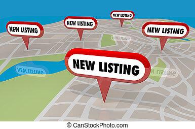 実質, 家, 財産, セール, イラスト, 家, リスト, 新しい, 3d