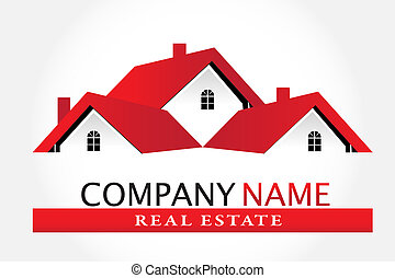実質, 家, 財産, ロゴ
