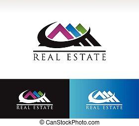 実質, 家, 財産, 屋根, アイコン