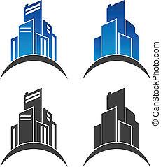 実質, 建物, 財産, アイコン