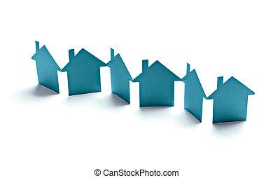 実質, 建物, 財産, 家, ペーパー, 家