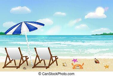 実質, 背景, リラックスしなさい, 砂の 海, 椅子, 浜