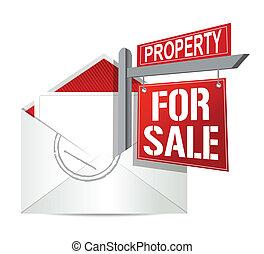 実質, 電子メール, セール, 財産, 印
