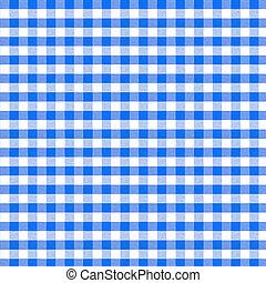 実質, 青, ピクニック, パターン, seamless, テーブルクロス