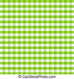 実質, checkered, 生地, resolution., 高く, 緑, tablecloth.
