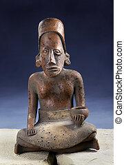 実質, pre columbian, のまわり, 年, 2000, 小立像, old.