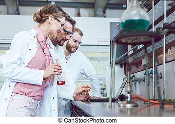 実験室, グループ, 仕事, 科学者
