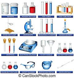 実験室, 道具