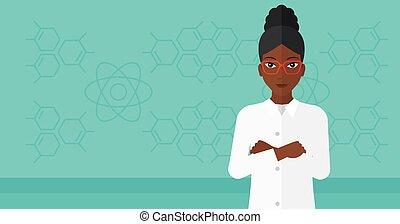 実験室, assistant., 女性