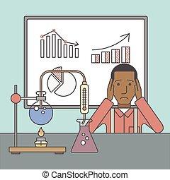 実験室, worker.