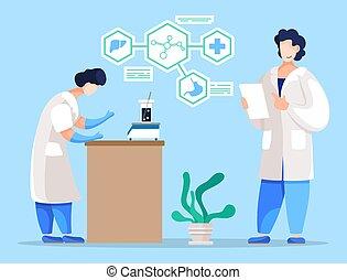 実験, 医学, 実験室, ベクトル, 研究