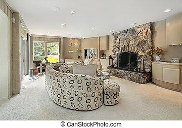 客厅, 在中, 奢侈家