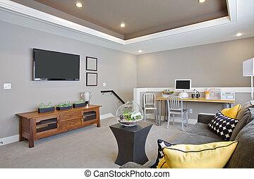 客廳, 在, 新的家