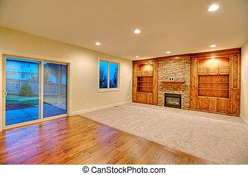 客廳, 在, a, 新的家