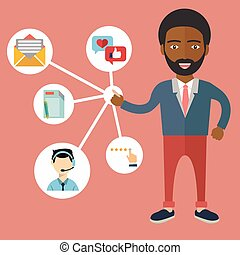 客户, 管理, 关系, -, 描述, 矢量