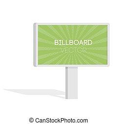 宣伝しなさい, 広告板, 都市ライト, billboard., 平ら, 3d, ベクトル, イラスト, ∥ために∥, infographic