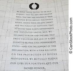 宣言, 独立