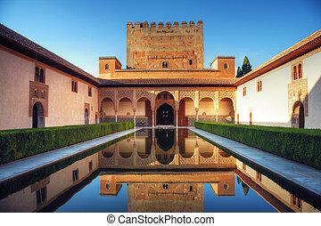 宮殿, スペイン, グラナダ, alhambra