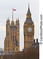 宮殿, ......的, westminster, 由于, 大本鐘, (parliament, building), -, 倫敦, 英國