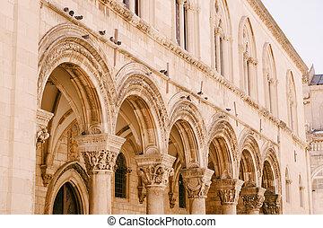 宮殿, 紋章, 家具, dubrovnik, croatia., 展覧会, ルネッサンス, princely, 骨董品, gothic, 博物館, 14th-century