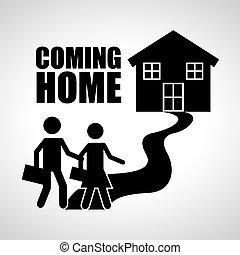 家に 来ること