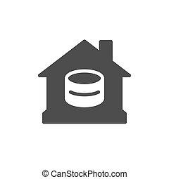 家の予算, アイコン, 金融, glyph