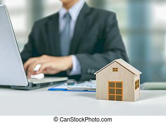 家の 保険, 概念, ∥で∥, ビジネスマン