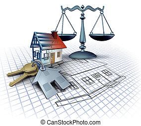 家の 構造, 法律