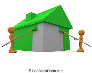 家の 絵画