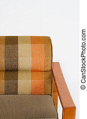 家具製造販売業, カラフルである, 木製の肘掛け椅子, 背景, 白