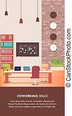 家具, デザイン, 仕事場, オフィス, 創造的