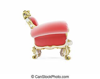 家具, ビロード, 赤, 皇族