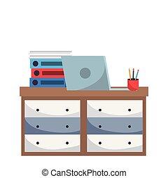 家具, 漫画, オフィス