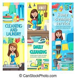 家务劳动, 工具, 打扫, 妇女