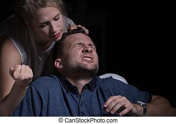 家庭内暴力, に対して, 夫