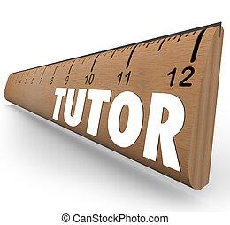 家庭教師, 定規, 測定, 勉強, 教授, 数学, 科学, 技能