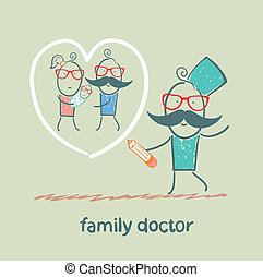 家庭醫生, 畫, a, 心, 大約, the, 家庭
