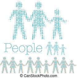 家庭, 人们, 行, 词汇, 人口, 瓦片