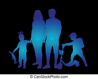 家庭, 侧面影象
