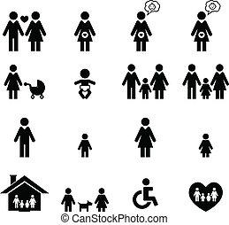 家庭, 图标