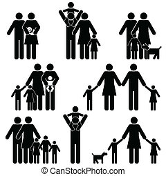家庭, 圖象, 集合