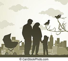 家庭, 步行